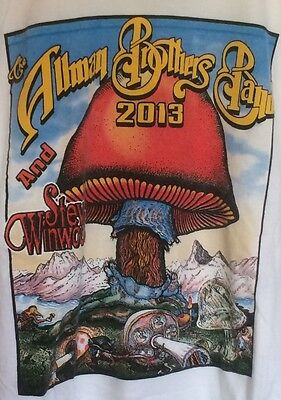 THE ALLMAN BROTHERS BAND & STEVE WINWOOD 2013 TOUR CONCERT SHIRT LARGE NEW wTAGS