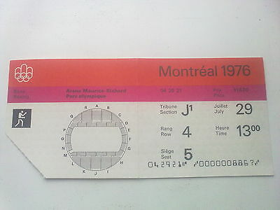 Ticket Olympic Games MONTREAL 29.07.1976 - BOXING (13:00)