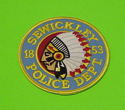 Sewickley  Pennsylvania  1853  Pa  ( Indian )  Police Patch   Free Shipping!!!