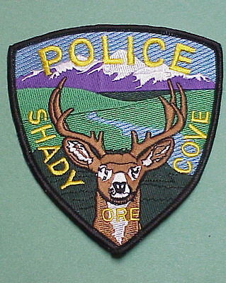 Shady Cove  Oregon  Or  Police Patch  Very Nice!   Free Shipping!!!