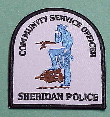 Sheridan  Wyoming  Community Service Officer /  Police Patch   Free Shipping!!!