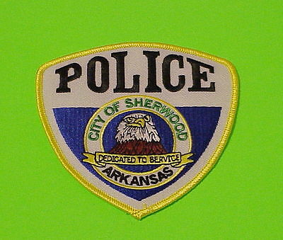Sherwood  Arkansas  Ar   ( Gold Border )  Police Patch   Free Shipping!!!