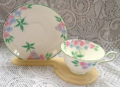 Tuscan Floral Fine Bone China Tea Cup & Saucer - Handpainted (?) (513)