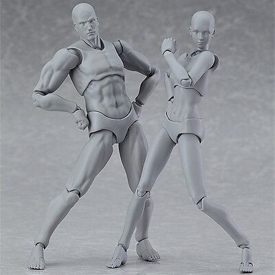 Figma HE & SHE 15th Anniversary Gray Color Ver. Set PVC Action Figure No Box