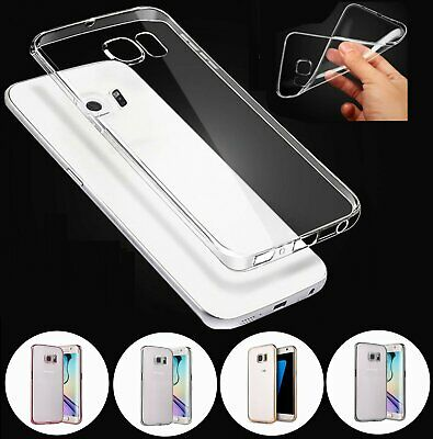 For Samsung Galaxy S7 Edge S8 Note 8 Plus Silicone Rubber Protective Cover Case