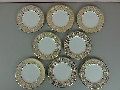 Set of 8 Wedgwood Gold Florentine Bread Plates W4219 6""