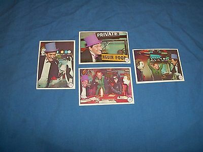 1966 Topps Batman & Robin Bat Laffs Lot of 4  Mid + Range Greenway Prod. AV