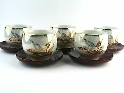 """""""NEW""""  Porcelain Tea Cup Set of 5 Cups and saucers From Japan"""