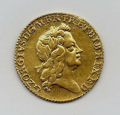 1726 Gold Half Guinea Coin, George I Second Laureate Bust, High Grade