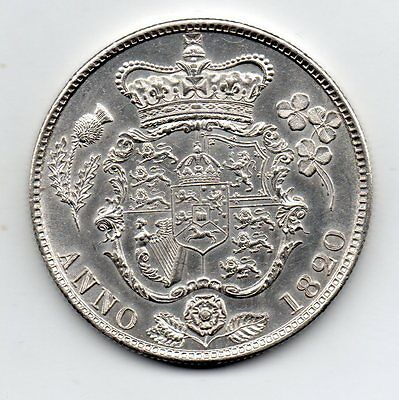 1820 Half Crown, George Iv Laureate Head, High Grade