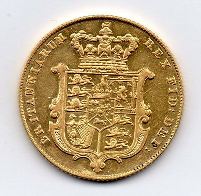 1826 Gold Sovereign, George Iv, High Grade