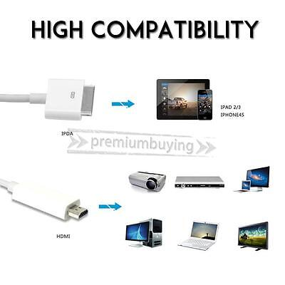6F 30 Pin Dock Connector to HDMI TV Cable Adapter for iPad 2 3 iPhone 4S iPod 4