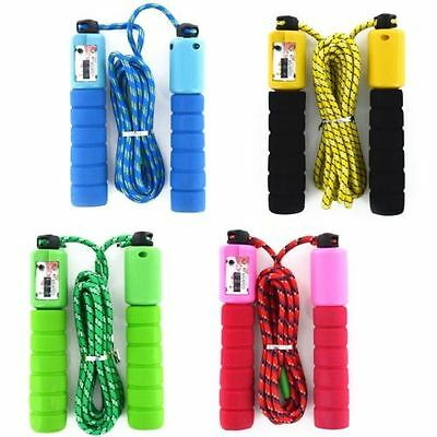 Fitness Skipping Jumping Gyming Workout Rope Counter Speed Exercise Foam Handles
