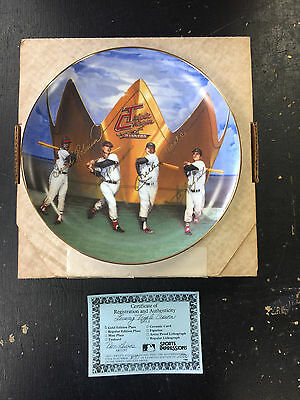 Sports Impressions Triple Crown Mantle Williams Collectors Plate