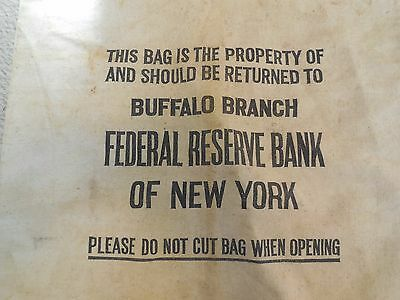 Antique Bank Bag Federal Reserve Bank Of New York  - Buffalo Branch