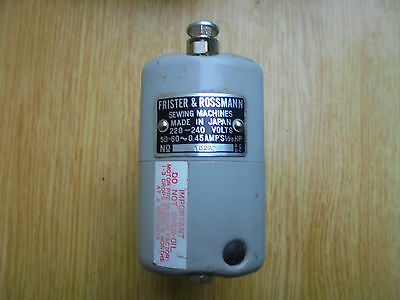 VINTAGE FRISTER AND ROSSMANN SEWING MACHINE MOTOR 4 PIN ,good condition