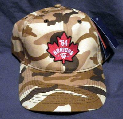 Tim Hortons Brown Camouflage Baseball Cap Hat New With Tags