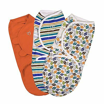 SwaddleMe Original Swaddle 3-PK, Touchdown Sports Design (Small)