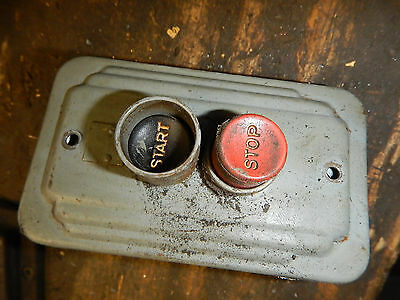 Vintage Ch Cutler Hammer Push Button Switch Used On Delta Rockwell Powermatic