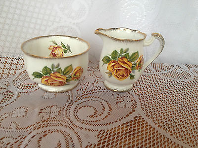 Royal Standard 'Romany Rose' Mini Creamer/Sugar - Yellow Roses  (537)