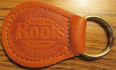 Vintage Roots Leather Advertising Keychain