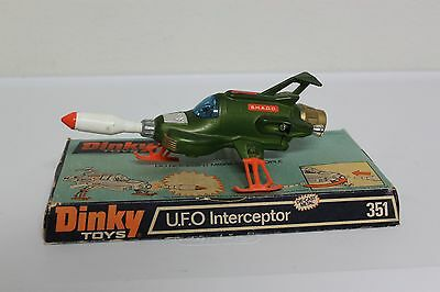 Dinky Toys UFO Interceptor Gerry Anderson S.H.A.D.O. Working Missile and Display