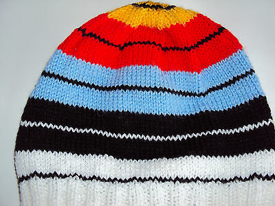 BEANIE HAT - Like an Archery Target - recently hand knitted