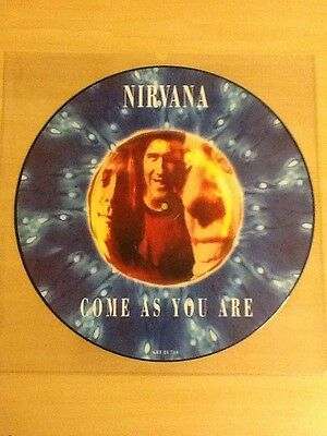 """Nirvana-12"""" Picture Disc Single-Come As You Are-Orig. German 92-Get 21 714-Nr M"""