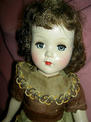 Arranbee R & B, Nanette 1952 hard plastic walker doll all orig. tagged, curlers