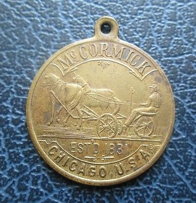 1831 McCormick in Chicago, USA Medallion c. 1890's