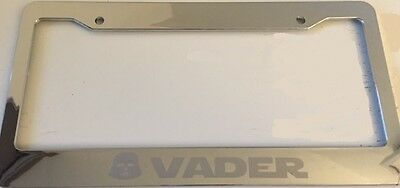 Darth Vader Mask Version Chrome With Grey LICENSE Plate Frame Qty 1