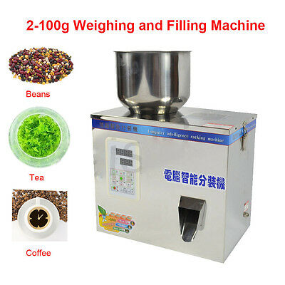 2-100g Small Automatic  Weighing Filling Machine Particle Subpackage Device New