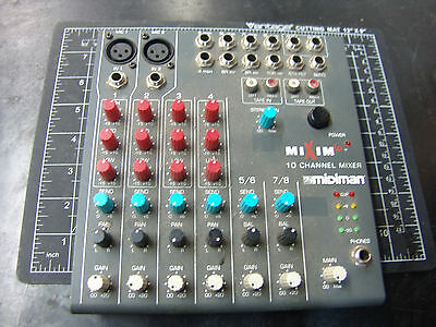 Mixim 10 10 channel mixer MIDIMAN for parts Only