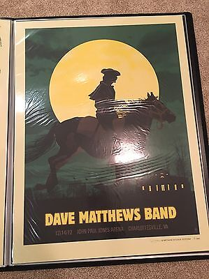 Dave Matthews Band Poster Charlottesville 2012 Mint Condition Poster