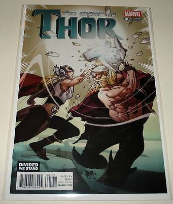 The UNWORTHY THOR # 1  Marvel Comic  Jan 2017 NM  DIVIDED WE STAND VARIANT COVER