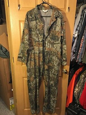 Vintage Walls Real Tree Bark Camo  Treebarks Coveralls Size See Measurements