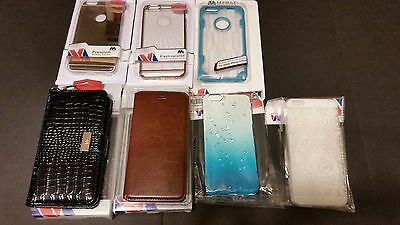 Lot of Apple Iphone 6s 6s plus cases leather raindrop gold blue stand clear