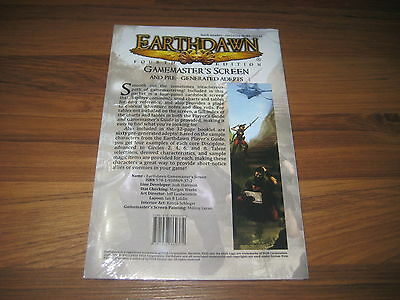 Earthdawn 4th Edition Gamemaster's Screen FASA New Sealed
