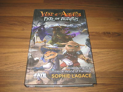 Fate War of Ashes Fate of Agaptus Hardcover Evil Hat Productions 2015 New Neu
