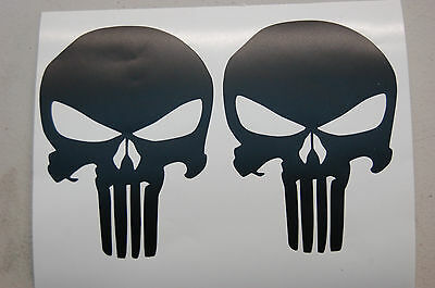 SKULL PUNISHER 2 vinly decal stickers car window lap top bumper