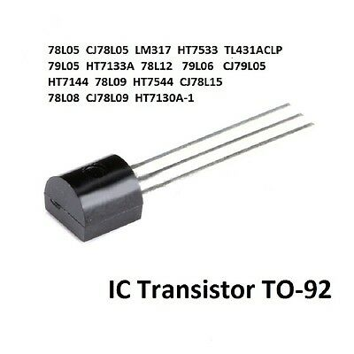 Transistor 78L05 LM317 HT7533 79L05 TO-92 Series Voltage Regulator IC - Free P&P