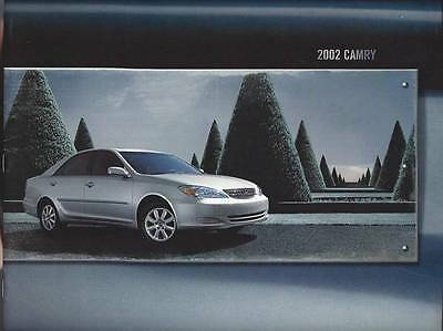 2002 Toyota Camry Sales Brochure