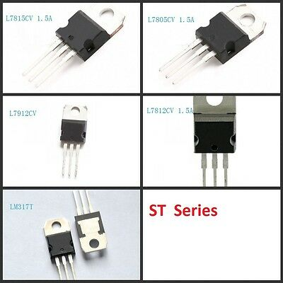 New!!  ST Series Voltage Regulator IC TO-220 L7805 L7812 LM317 L7912 L7815 Kits