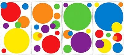 RoomMates - Primary Colors Just Dots Peel and Stick Wall Decals