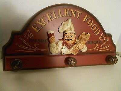 Vintage Collectible Excellent Food Wooden Coat Hanging Advertising