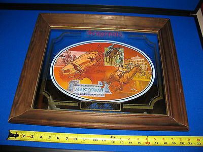 Seagrams Man o' War Horse A Legend of the Turf Seven Crowns Bar Mirror Vintage