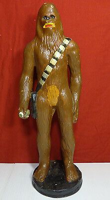 "Star Wars Chewbacca Ceramic Unlicensed 16"" Statue Base 1978 1979 RARE Large Size"