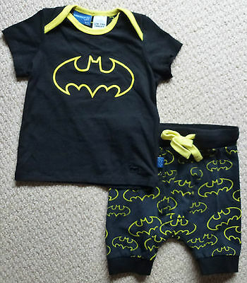 NWT Peter Alexander Baby Boys Batman Shorts Top Summer Pyjamas Size 0