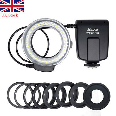 UK Meike FC100 LED Macro Adapter Ring Flash Light for Camera Canon Nikon 70D D80