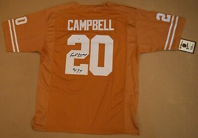 Earl Campbell Signed Autographed Texas Burnt Orange Jersey UT PSA/DNA AB77934